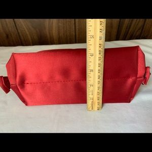 CHANEL Bags - CHANEL Parfums Red Satin Makeup Cosmetic Small Bag